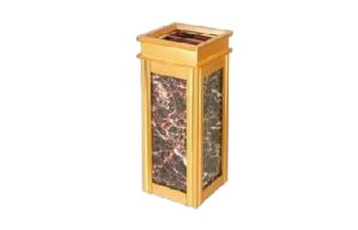 Thùng rác inox vuông vàng A17